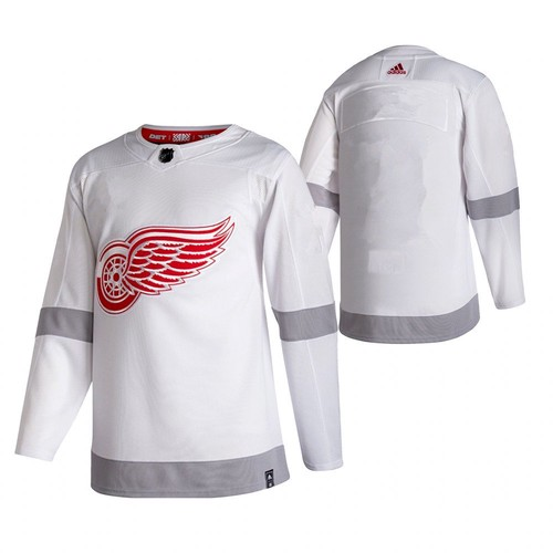 Men's Detroit Red Wings White 2020-21 Reverse Retro Stitched Jersey