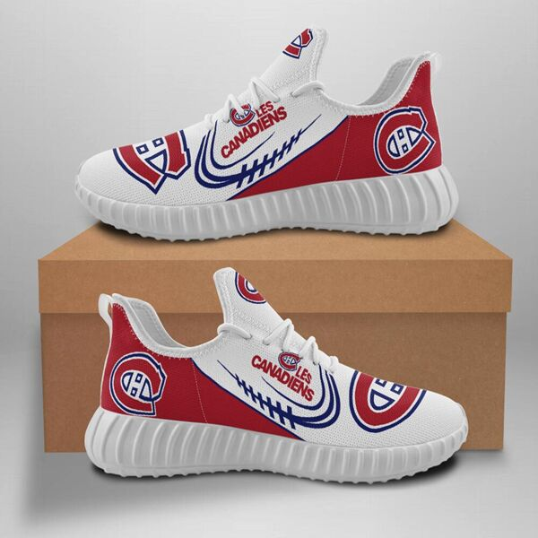 Women's Montreal Canadiens Mesh Knit Sneakers/Shoes 001