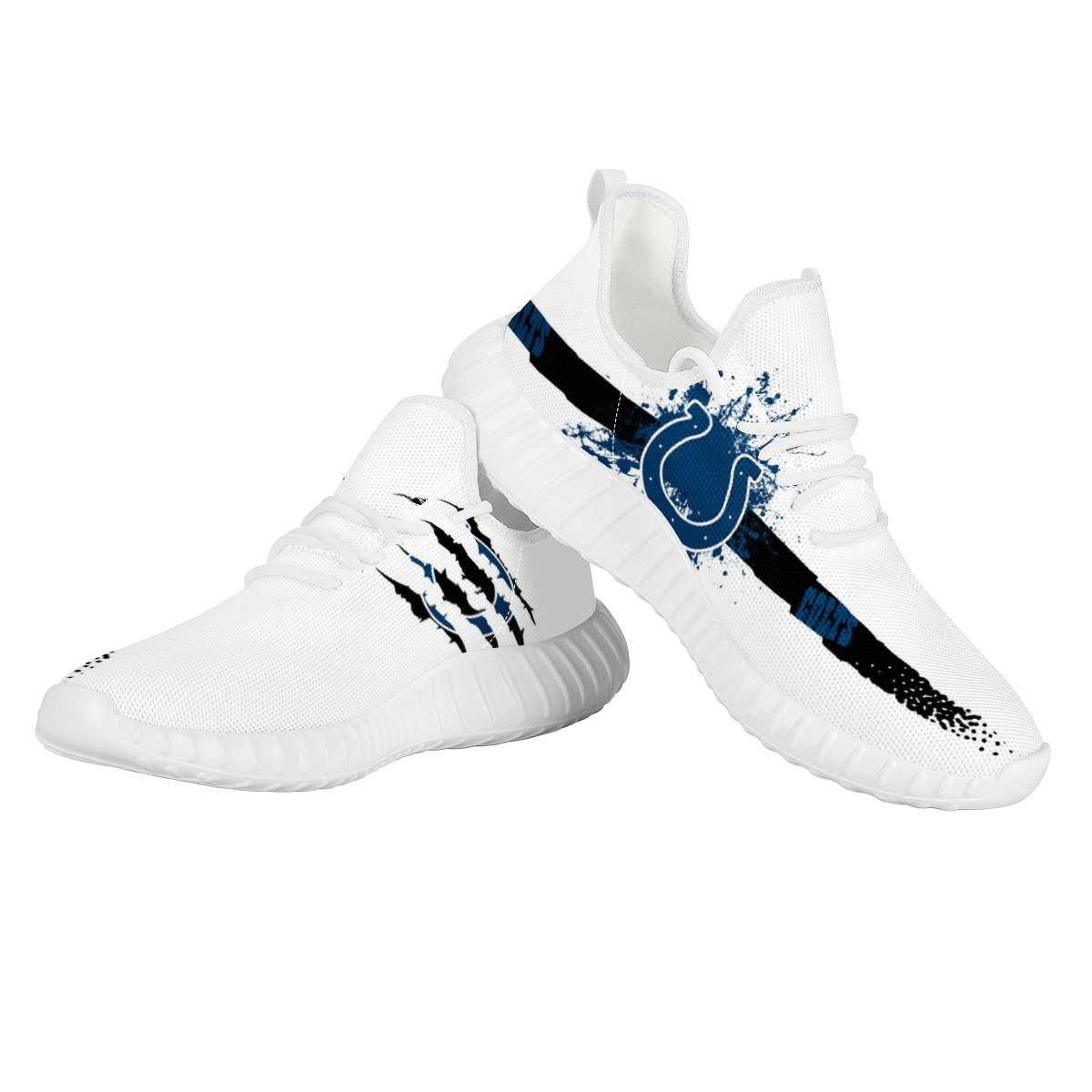Men's Indianapolis Colts Mesh Knit Sneakers/Shoes 006