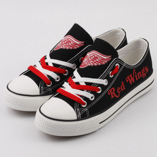 Women's And Youth Detroit Red Wings Repeat Print Low Top Sneakers 001