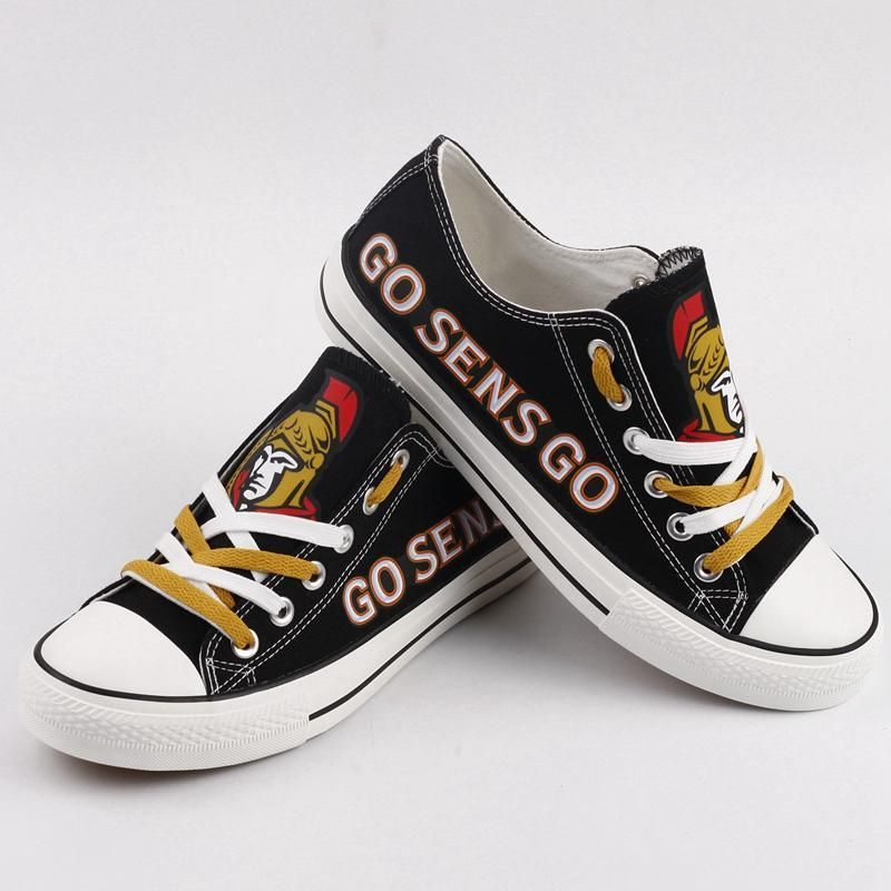 Women's Ottawa Senators Repeat Print Low Top Sneakers 002