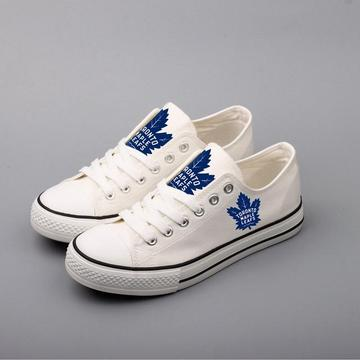 Women's and Youth NHL Toronto Maple Leafs Repeat Print Low Top Sneakers 001