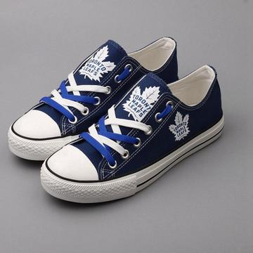 Women's and Youth NHL Toronto Maple Leafs Repeat Print Low Top Sneakers 002