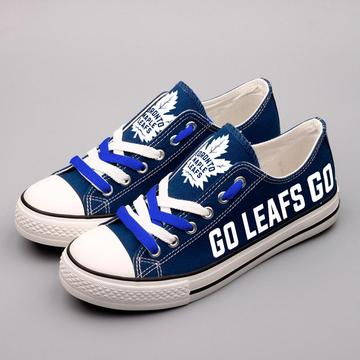 Women's and Youth NHL Toronto Maple Leafs Repeat Print Low Top Sneakers 003
