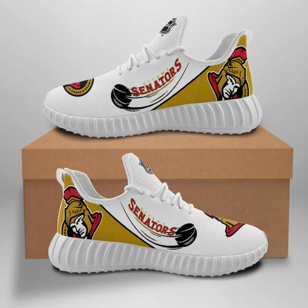 Women's Ottawa Senators Mesh Knit Sneakers/Shoes 002