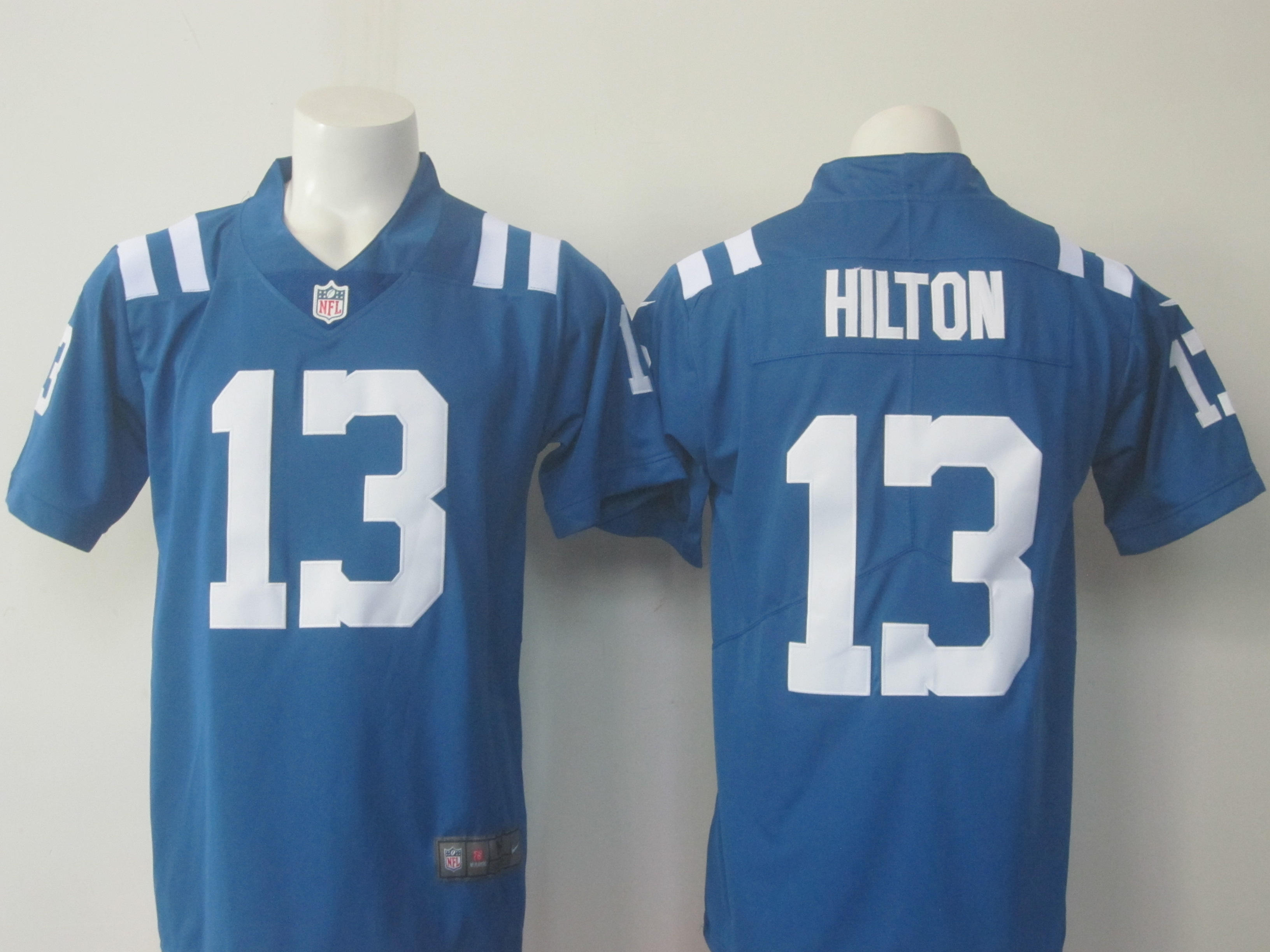 Men's Nike Colts #13 T.Y. Hilton Blue Limited Rush Stitched NFL Jersey