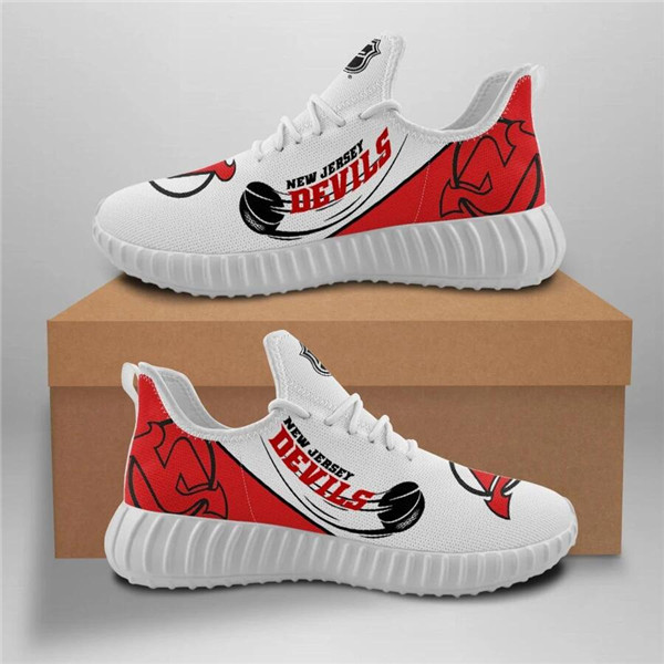 Men's New Jersey Devils Mesh Knit Sneakers/Shoes 001