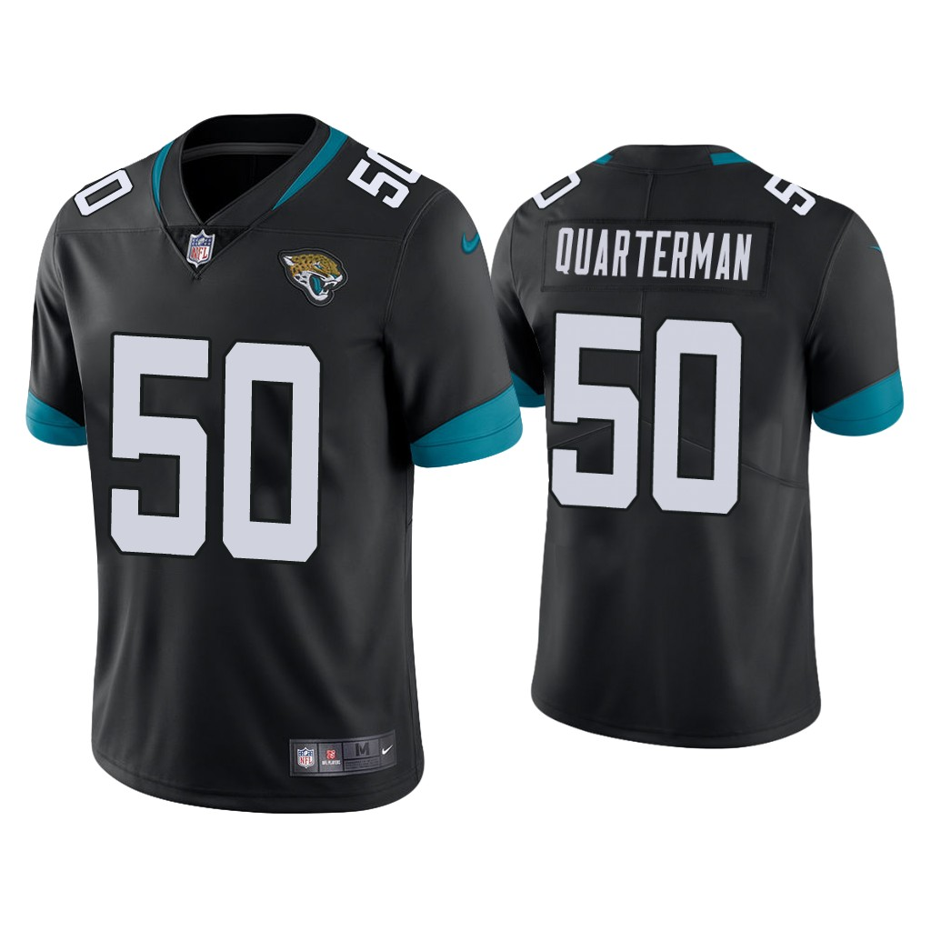 Men's Jacksonville Jaguars #50 Shaquille Quarterman Black Vapor Untouchable Limited Stitched Jersey