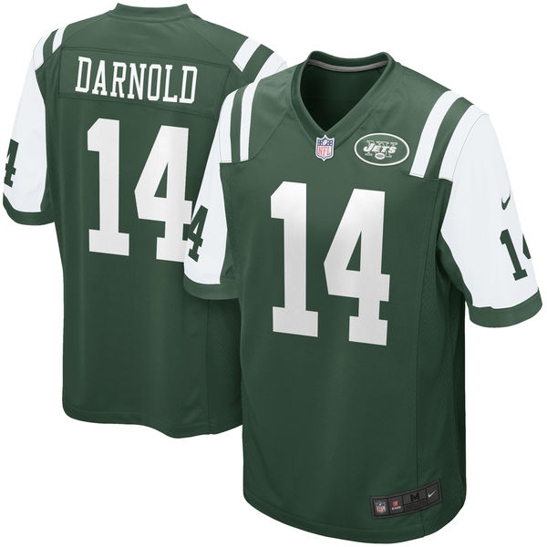 Men's New York Jets #14 Sam Darnold Green 2018 NFL Draft First Round Pick Game Jersey