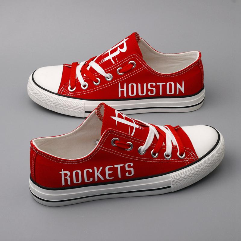 Women's and Youth Houston Rockets Repeat Print Low Top Sneakers 001
