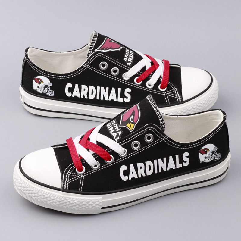 Women's NFL Arizona Cardinals Repeat Print Low Top Sneakers 001
