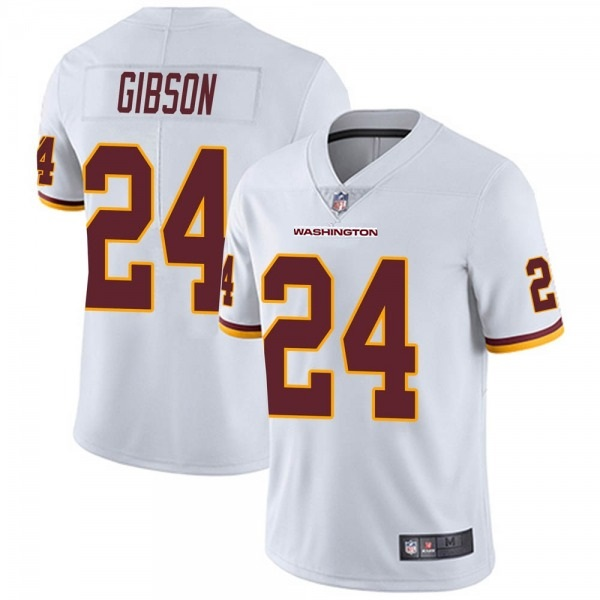 Men's Washington Football Team #24 Antonio Gibson White Vapor Untouchable Limited Stitched Jersey