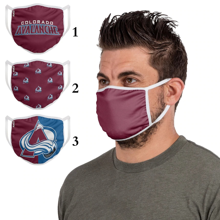 Colorado Avalanche Sports Face Mask 001 Filter Pm2.5 (Pls check description for details)