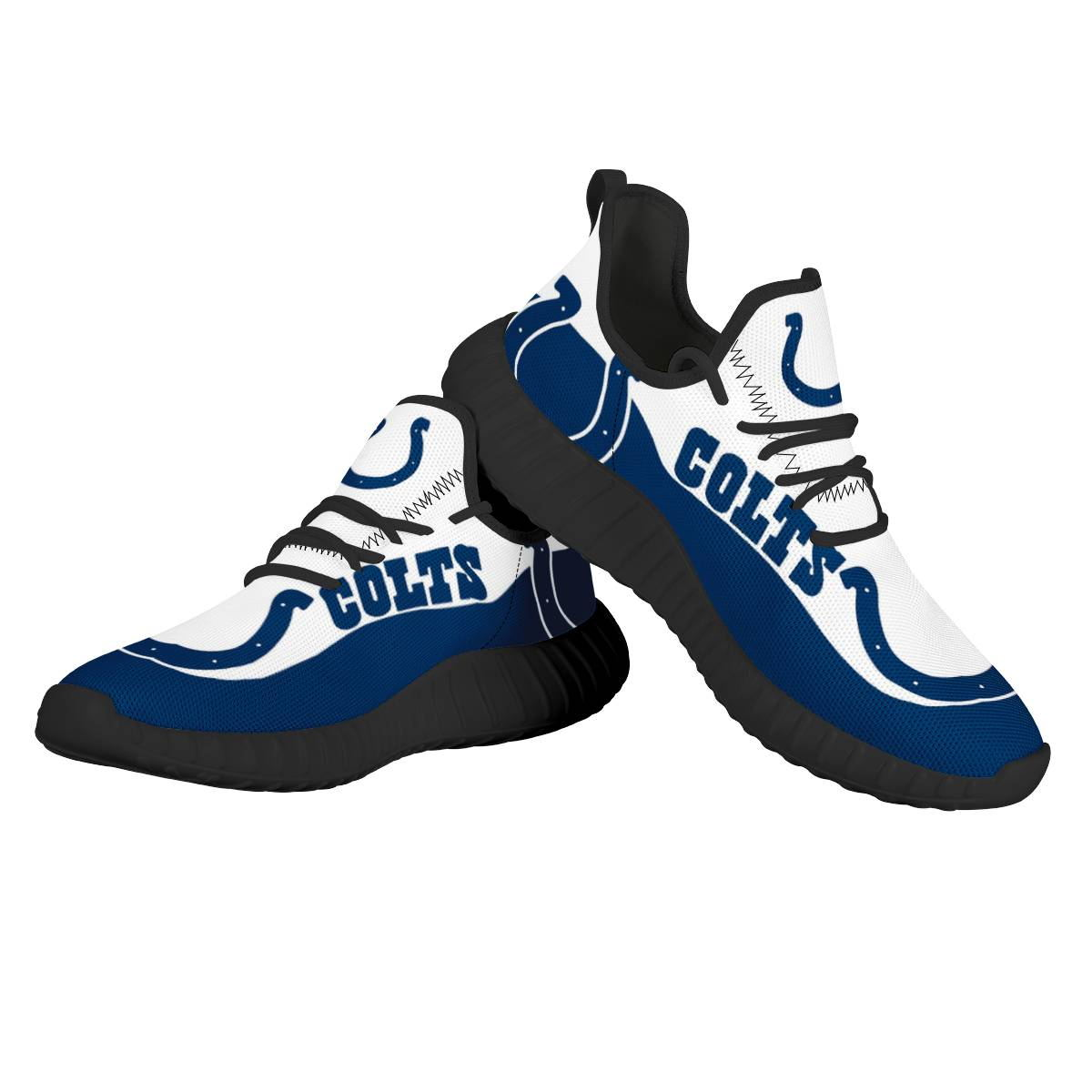 Women's NFL Indianapolis Colts Mesh Knit Sneakers/Shoes 003