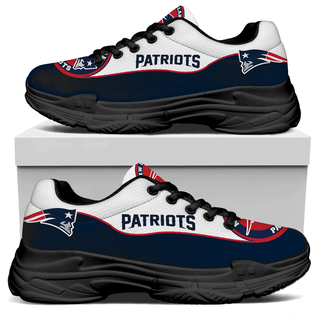 Men's New England Patriots Edition Chunky Sneakers With Line 001