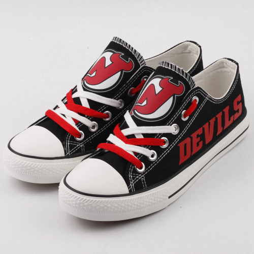 Women's and Youth NHL New Jersey Devils Repeat Print Low Top Sneakers 001