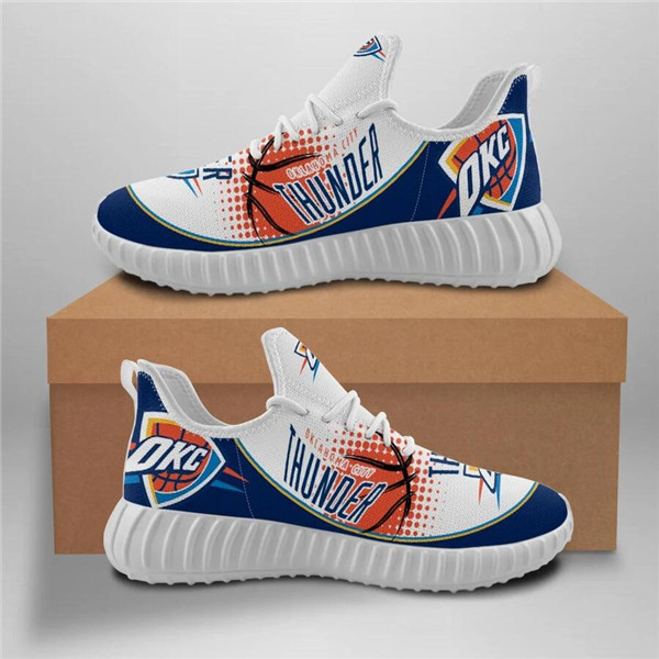 Women's Oklahoma City Thunder Mesh Knit Sneakers/Shoes 003