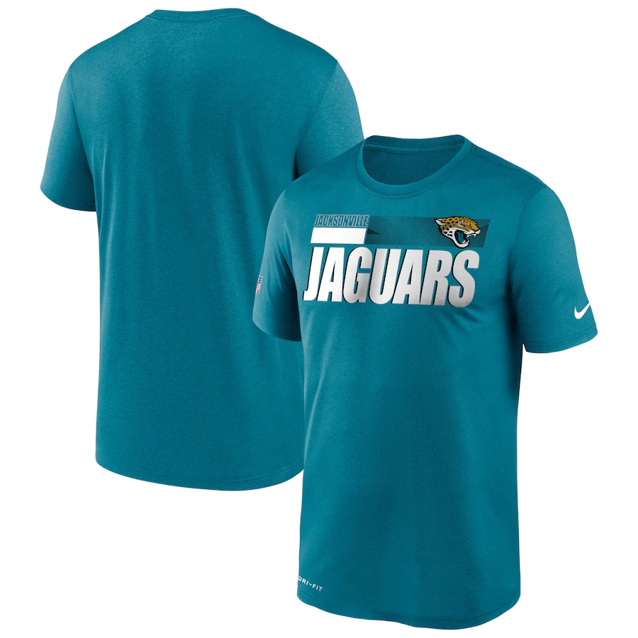 Men's Jacksonville Jaguars 2020 Teal Sideline Impact Legend Performance T-Shirt
