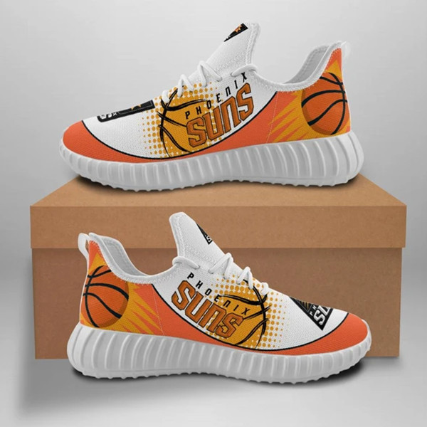 Women's Phoenix Suns Mesh Knit Sneakers/Shoes 002