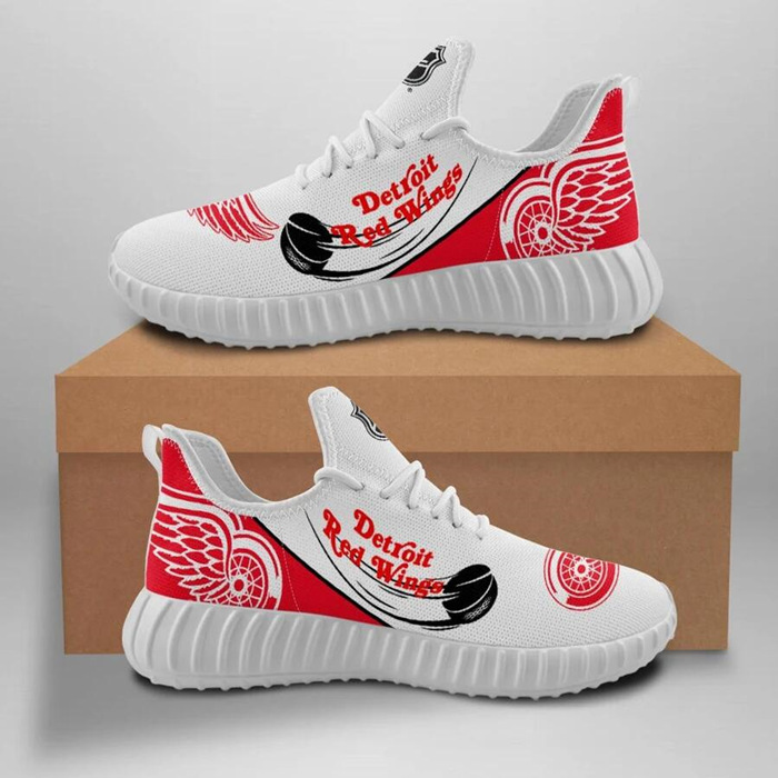 Men's Detroit Red Wings Mesh Knit Sneakers/Shoes 001