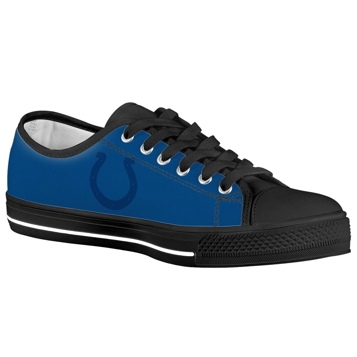 Men's Indianapolis Colts Low Top Canvas Sneakers 002