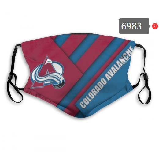 Colorado Avalanche Face Mask 6983 Filter Pm2.5 (Pls check description for details)