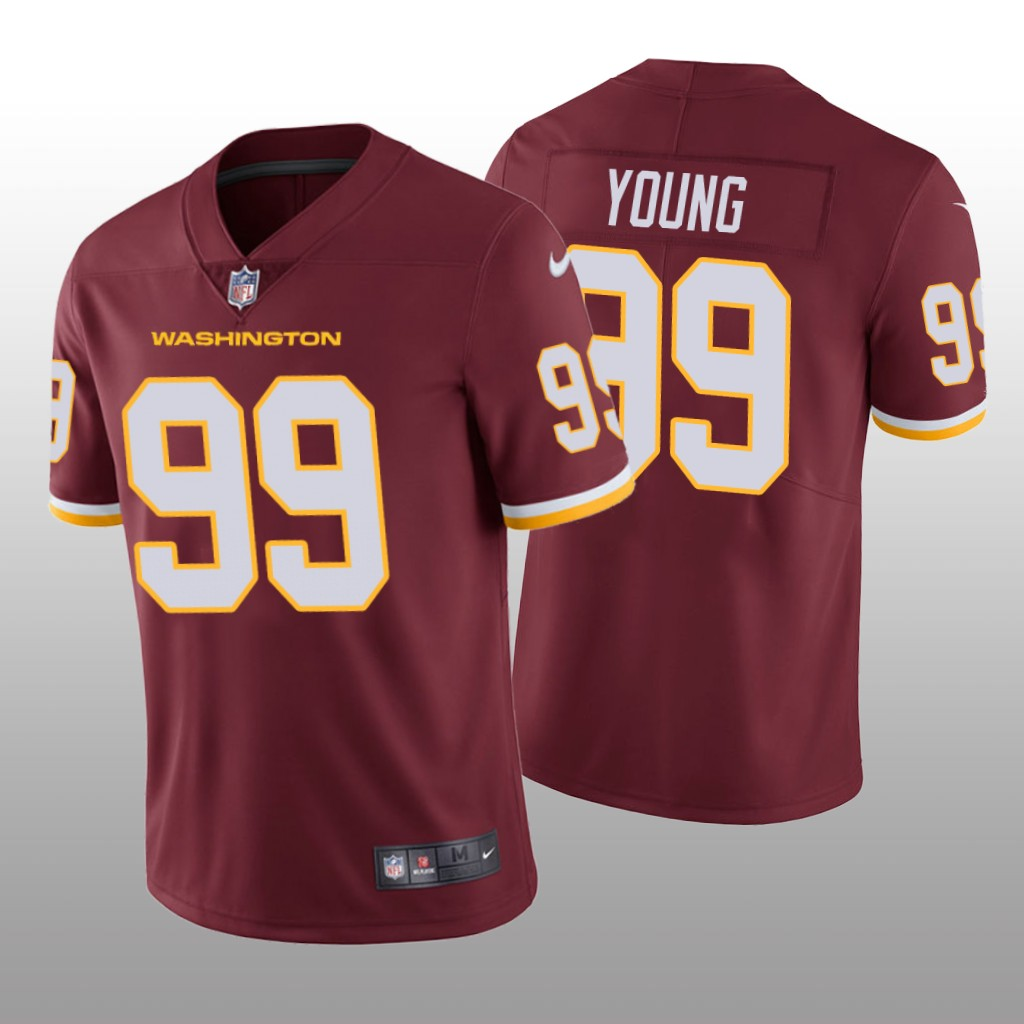 Men's Washington Football Team #99 Chase Young Red Vapor Untouchable Limited Stitched Jersey