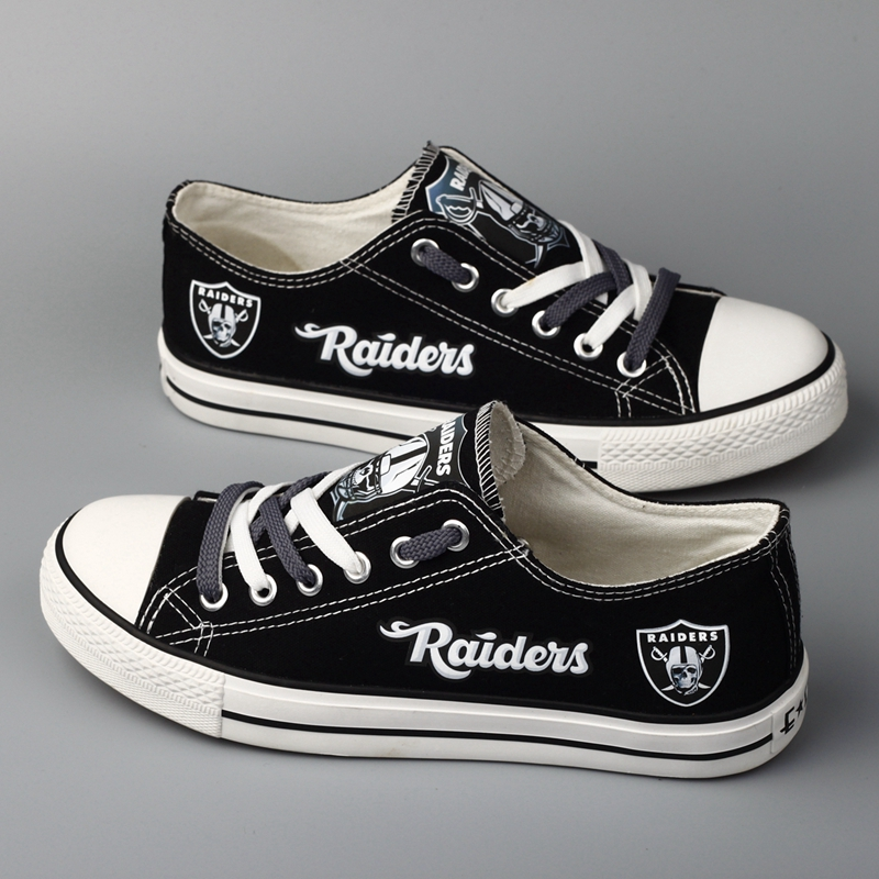 Women's NFL Oakland Raiders Repeat Print Low Top Sneakers 001
