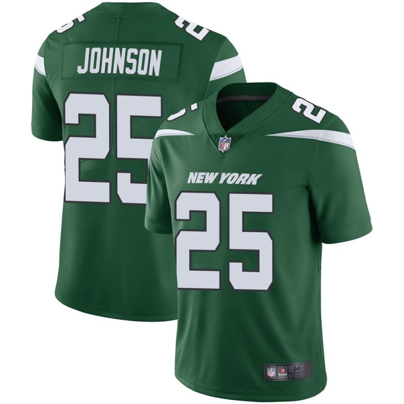 Men's New York Jets #25 Ty Johnson Green Vapor Untouchable Limited Stitched Jersey