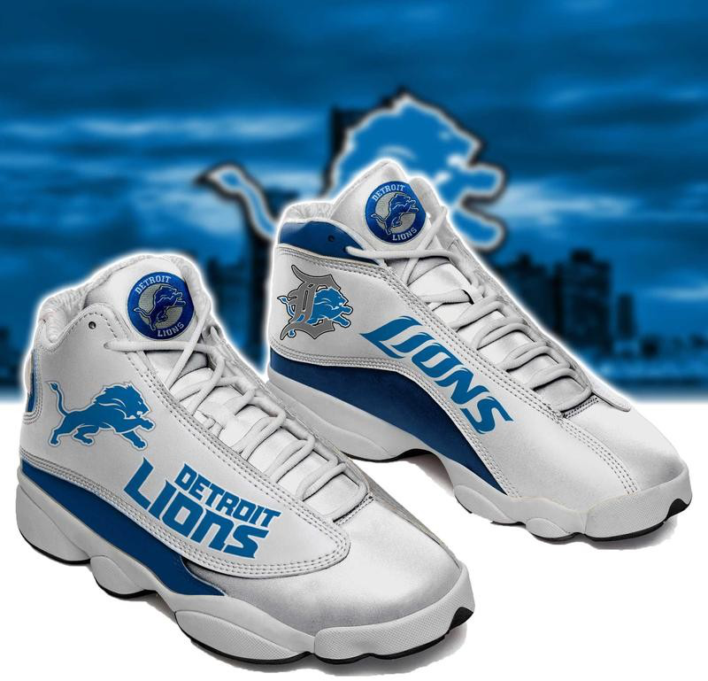 Women's Detroit Lions Limited Edition JD13 Sneakers 002