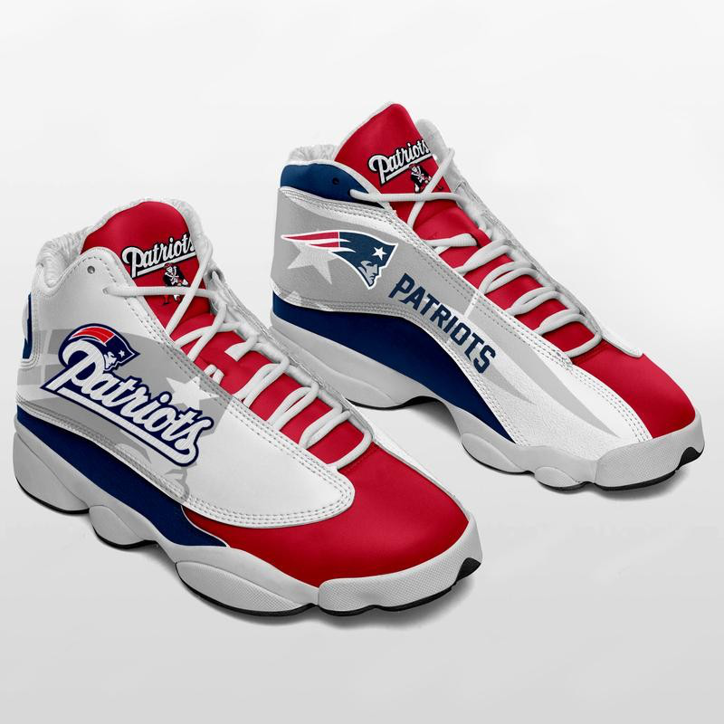 Women's New England Patriots Limited Edition JD13 Sneakers 003