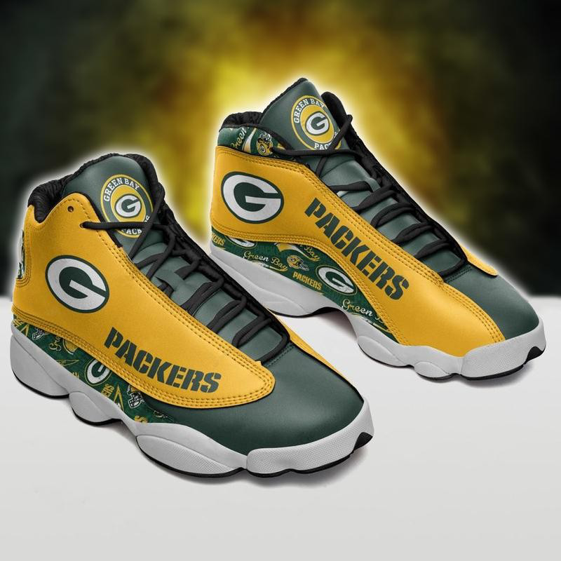 Women's Green Bay Packers Limited Edition JD13 Sneakers 006