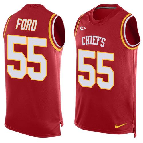 Nike Chiefs #55 Dee Ford Red Team Color Men's Stitched NFL Limited Tank Top Jersey
