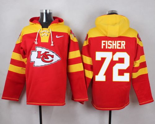 Nike Chiefs #72 Eric Fisher Red Player Pullover NFL Hoodie