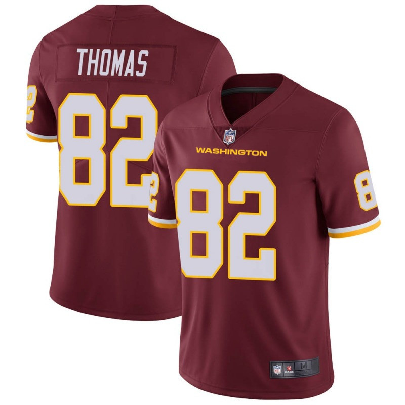 Men's Washington Football Team #82 Logan Thomas Red Vapor Untouchable Limited Stitched Jersey