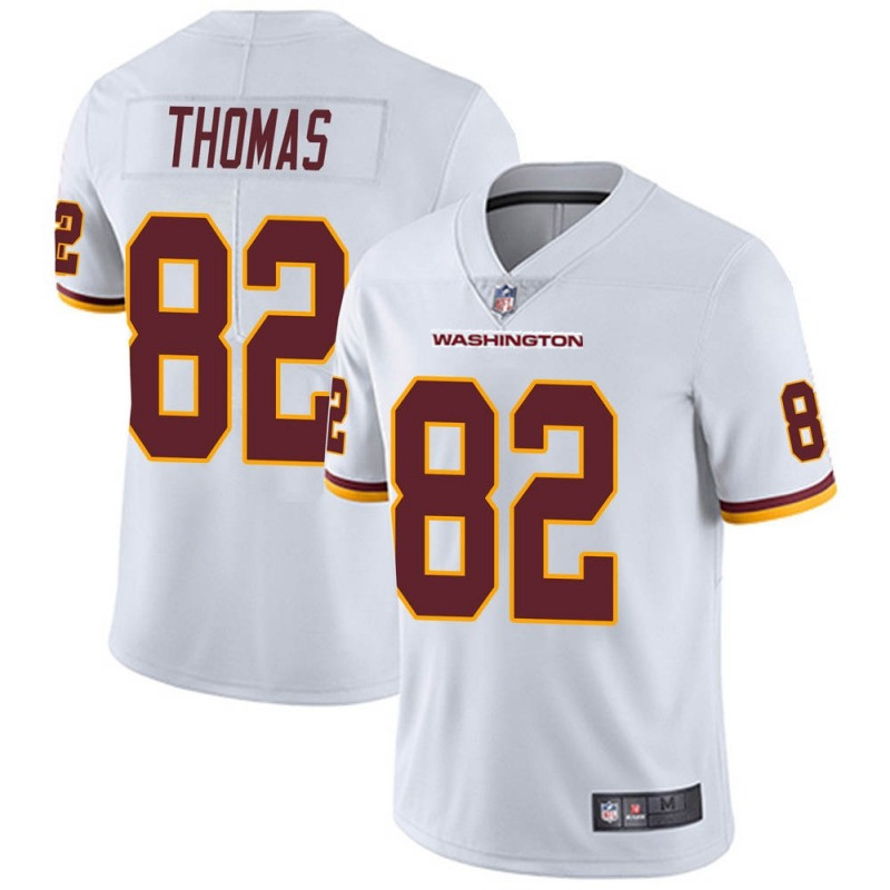 Men's Washington Football Team #82 Logan Thomas White Vapor Untouchable Limited Stitched Jersey