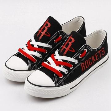 Women's and Youth Houston Rockets Repeat Print Low Top Sneakers 002