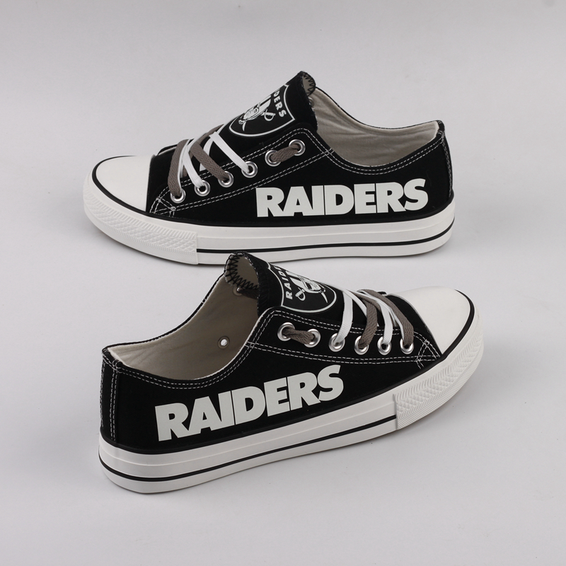 Women's NFL Oakland Raiders Repeat Print Low Top Sneakers 005