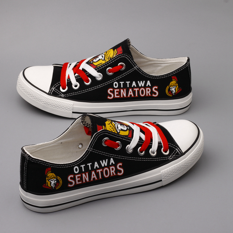 Women's Ottawa Senators Repeat Print Low Top Sneakers 001