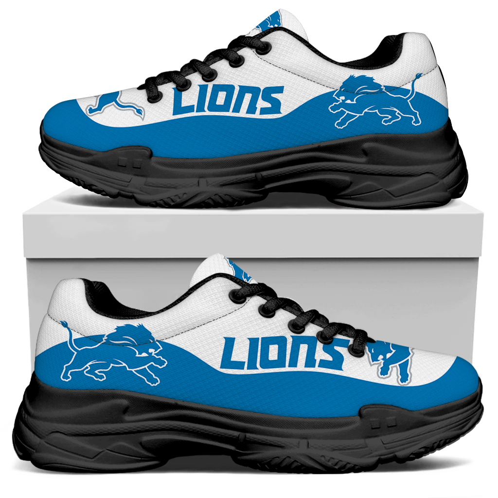 Women's Detroit Lions Edition Chunky Sneakers With Line 001