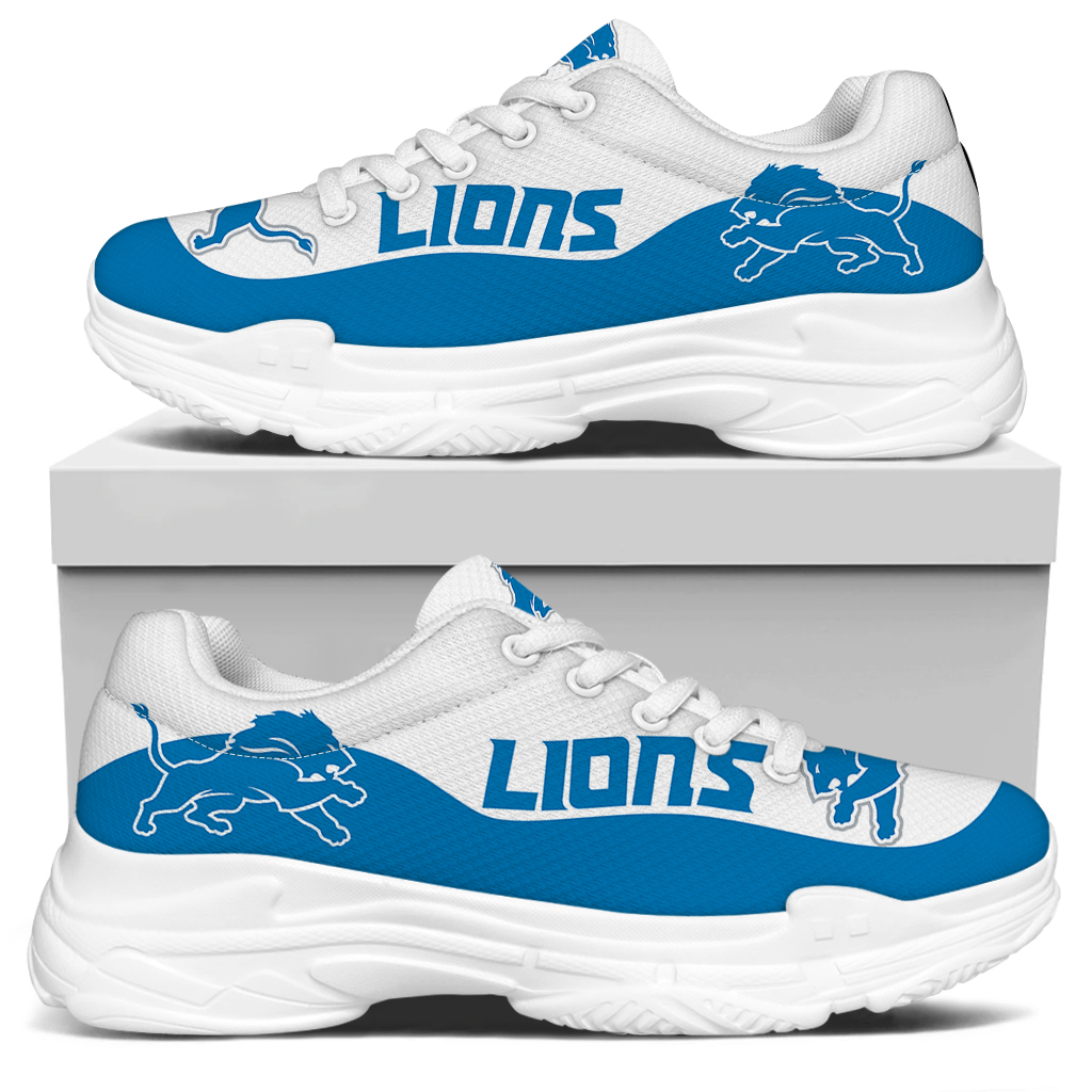 Women's Detroit Lions Edition Chunky Sneakers With Line 002