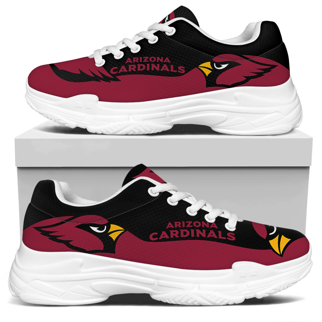 Women's Arizona Cardinals Edition Chunky Sneakers With Line 001