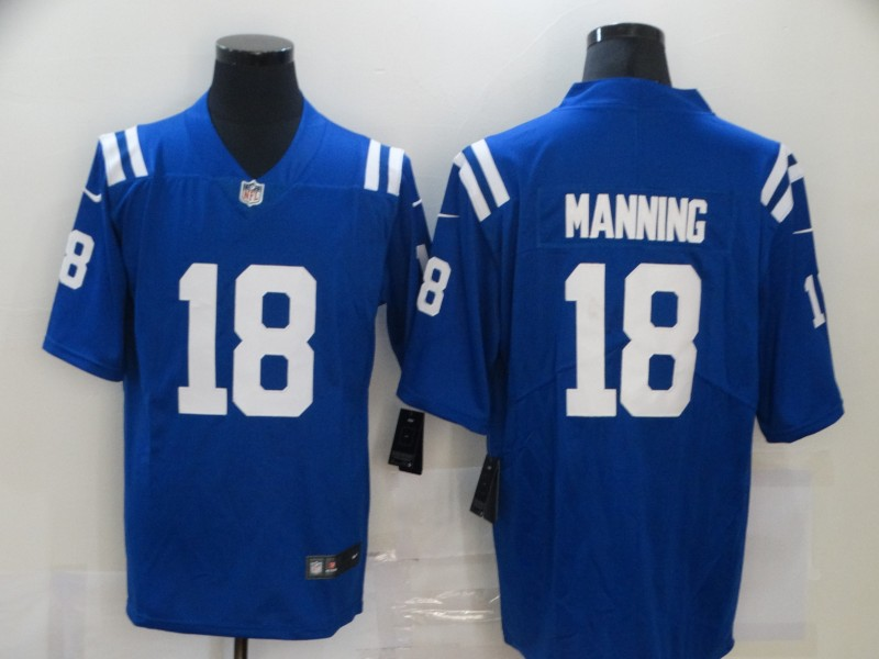 Men's Indianapolis Colts #18 Peyton Manning Blue Vapor Untouchable Limited Stitched Jersey