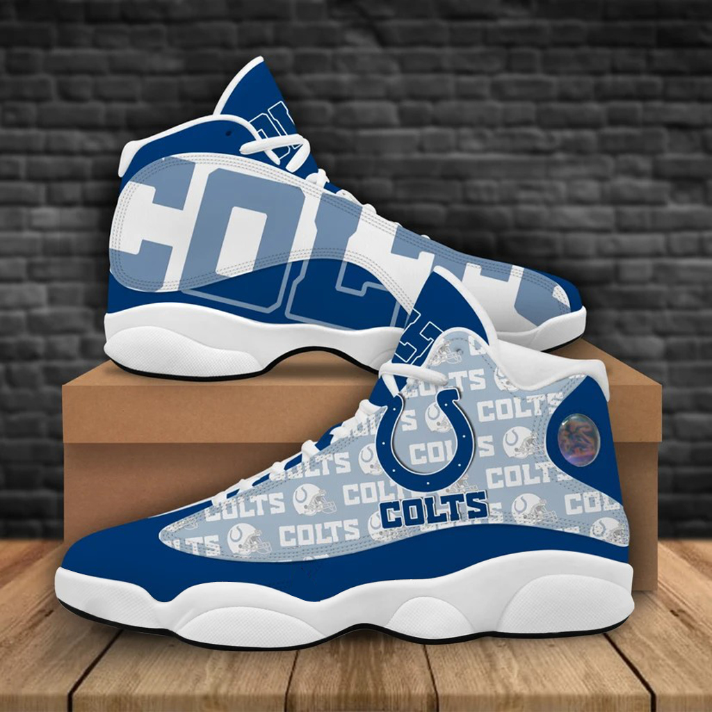 Men's Indianapolis Colts Limited Edition JD13 Sneakers 001