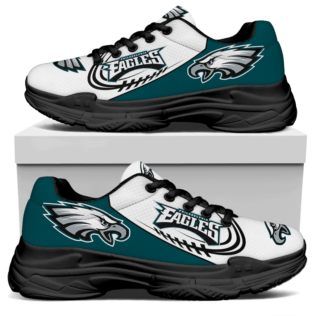Women's Philadelphia Eagles Edition Chunky Sneakers With Line 003