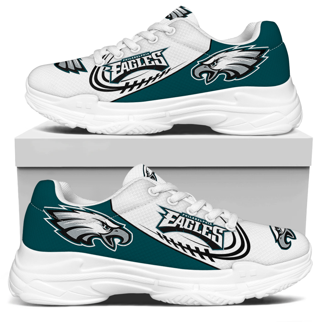 Women's Philadelphia Eagles Edition Chunky Sneakers With Line 004
