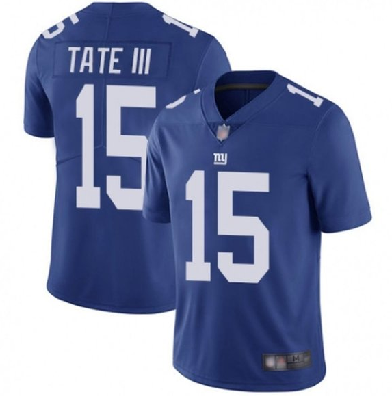 Men's New York Giants #15 Golden Tate III Blue Vapor Untouchable Limited Stitched Jersey