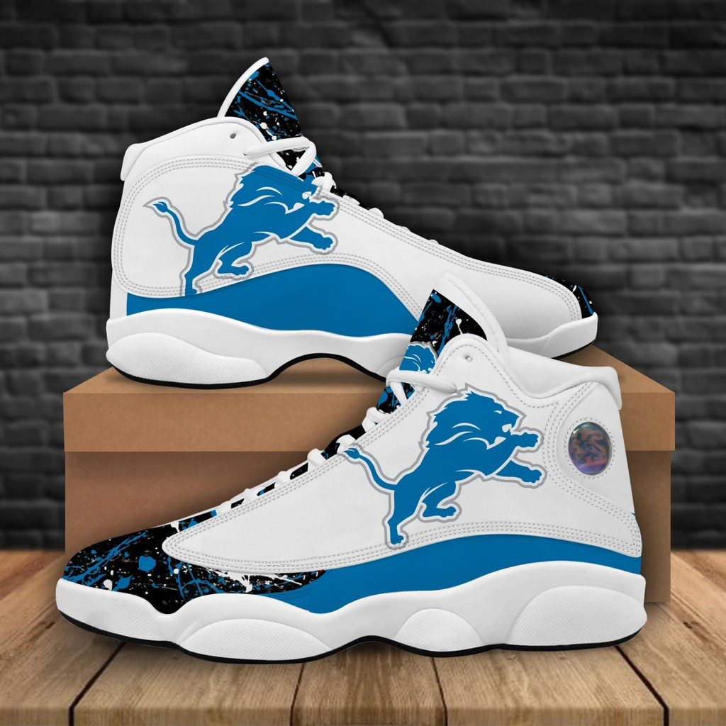 Women's Detroit Lions Limited Edition JD13 Sneakers 001