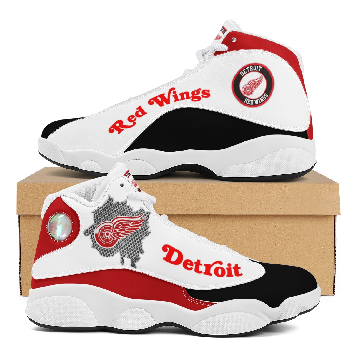 Men's Detroit Red Wings Limited Edition JD13 Sneakers 002