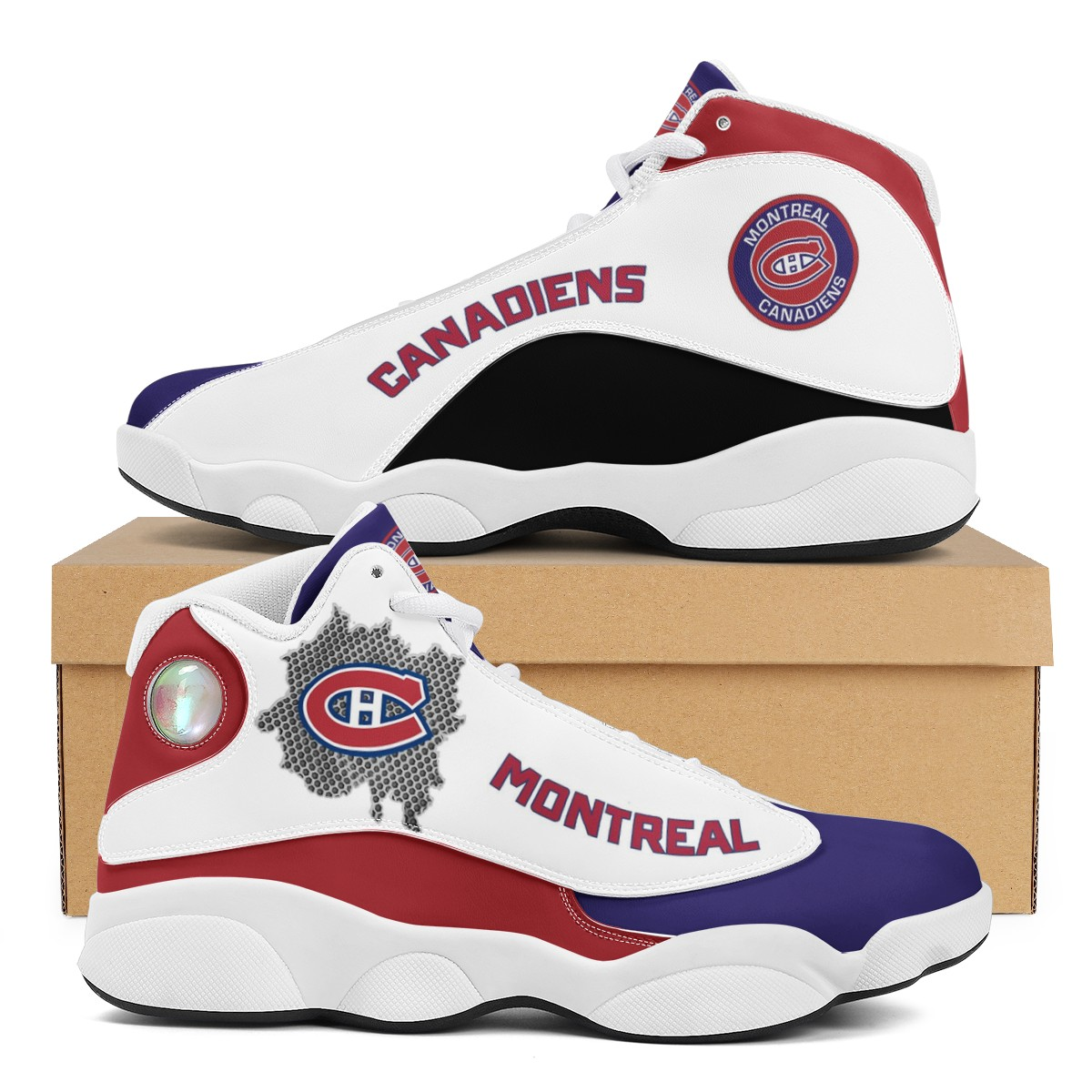 Men's Montreal Canadiens Limited Edition JD13 Sneakers 002